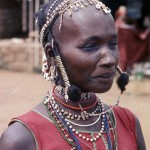 An Aku woman, pictured in Wum market, Cameroon. April 1966.