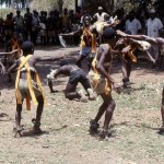 In April 1966 as I was driving to Cameroon from Ibadan, I passed through the village of Abakaliki in southeastern Nigeria. A major ceremony of some sort was in progress, with some incredible dancing taking place. We stopped and were allowed to take photographs but the exact nature of the ceremony was not explained to us.
