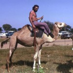 During a trip to northern Nigeria, I tried my hand at camel riding. This was at the Bagauda Lake Hotel, near Kano, October 1974. In retrospect I was thoroughly foolish to expose myself to so much hot sunshine and now check myself regularly for possible skin cancers...
