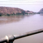 A view of the River Niger from Jebba Bridge, December 1963.