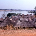 A village near Jebba, on the River Niger, December 1963.