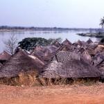 A village near Jebba, on the River Niger, December 1963.