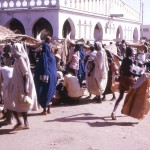 The market in what was then called Fort-Lamy, the capital of the Republic of Chad, a landlocked country that extends into the Sahara to the north. The city was renamed N'Djamena in 1973. Christmas Day, 1963.