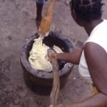 Pounding yam, Ilesha, southwestern Nigeria. 1965