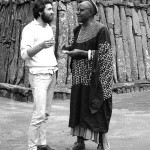 From Bamenda we drove to Bafut where I met again my friend the Fon of Bafut, made famous by Gerald Durrell's books. Here we are in the Fon's compound at Bafut. April 1966.