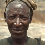 This man passed by one day when I was in the bush near Ogbomoso, southwestern Nigeria. 1966.