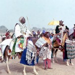 In early 1977 Nigeria hosted the 2nd world Festival of Black and African Arts (FESTAC). Artists and performers arrived in Nigeria from all over the world. As part of FESTAC, a Durbar festival was held in Kaduna, northern Nigeria - see above. February 1977.