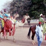 Camels were used by some participants in the festival. FESTAC, Kaduna, February 1977.