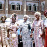 Teachers from Loyola College, Ibadan, attending the wedding of a male colleague. The College was founded in 1954 and is a secondary school for boys only. 1977.