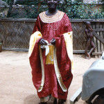 The Fon of Bafut. He first became famous in Durrell's earlier book 'The Bafut Beagles'.
