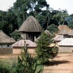 The Fon's compound viewed from the rest house where we stayed while in Bafut.