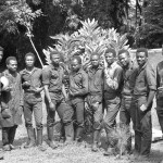 The zoo keepers, from different areas of southern Nigeria, provided the expertise and dedication without which the Zoological Garden would not have been the success that it was. From the left they are Michael Iyoha, Fred Inanga, Anthony Akhiale, Dickson Osagie, Augustine Udoh, Thomas Popoola, Daniel Osula (Head Keeper), Victor Babarinde, Nicholas Eze, and Nosiru Sadiku. Photo 1978. Wherever you are now, thank you. I remember you all with affection and gratitude. Bob Golding, Bristol, UK, 2012.