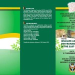In November 2014 Dr Morenikeji, the Zoo Director, organised a zoo and wildlife management Workshop at the University of Ibadan. Above is the leaflet promoting this.
