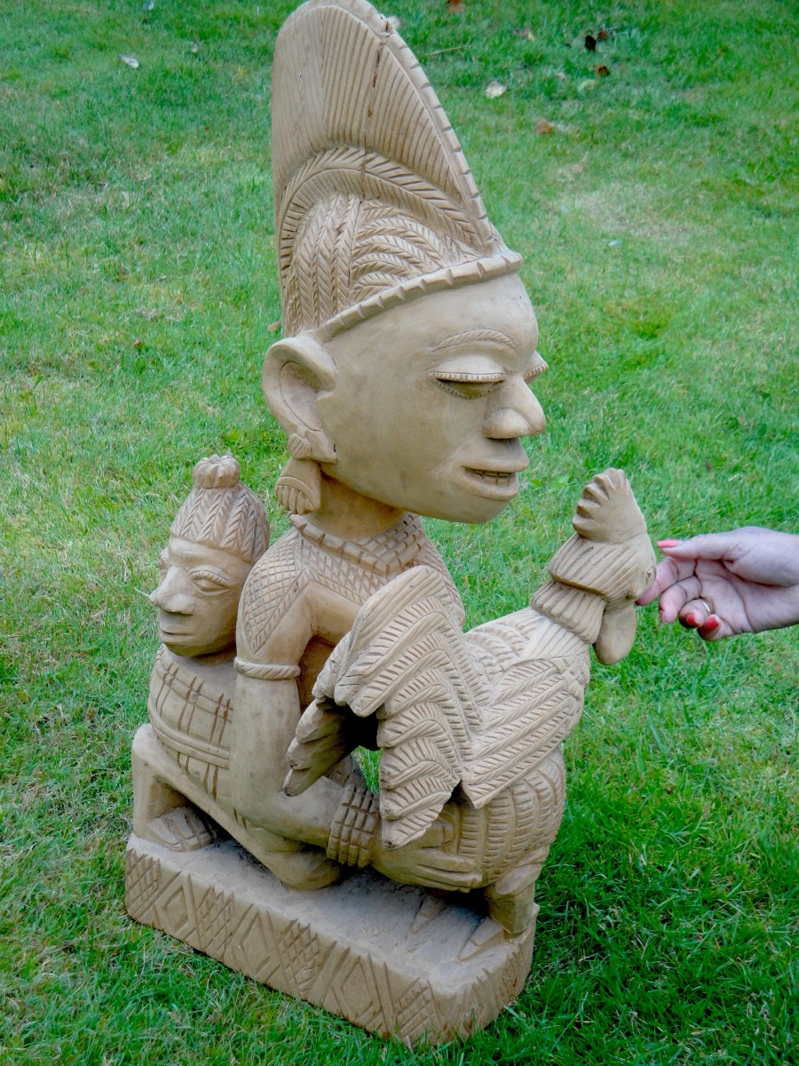Wooden carving given to Bob Golding by the Orangun of Ila in 1972.